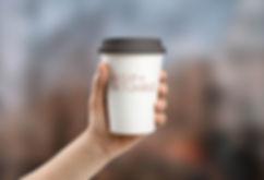 custom logo design on coffee cup