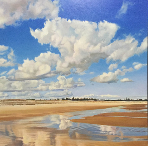 Cloud Reflections at Cherry Hill Beach
