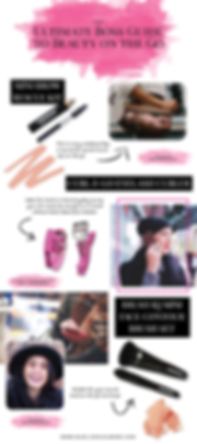 Infographic design for beauty brand