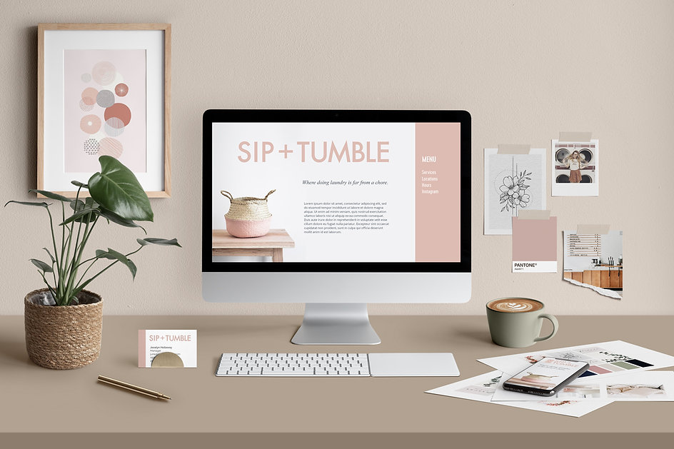 Sip+Tumble brand identity design package