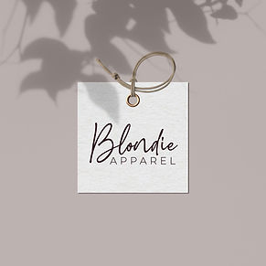 blondie apparel brand identity