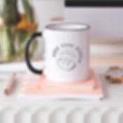 branded raise some dough mug
