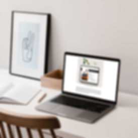 desk and laptop with customer profile