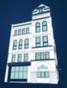 Broadview Hotel illustrated by Toronto freelance graphic designer
