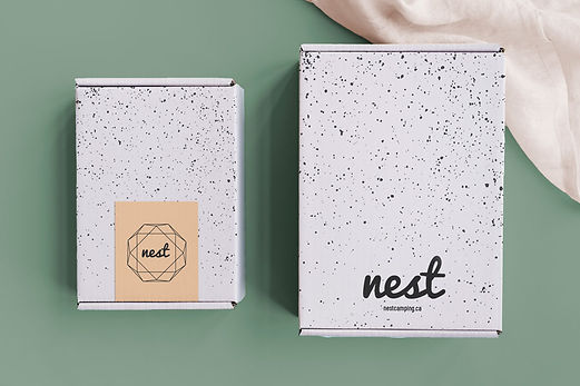 nest camping package design