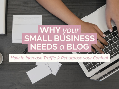 WHY YOUR SMALL BUSINESS NEEDS A BLOG – How to Increase Traffic and Repurpose your Content