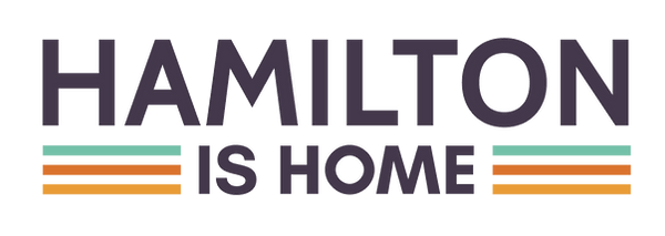 Hamilton is Home stacked wordmark