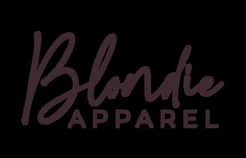 blondie apparel primary logo design