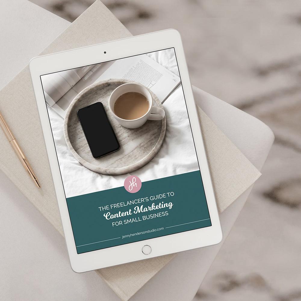 iPad mockup to showcase lead magnet