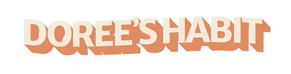 Dorees Habit retro wordmark design