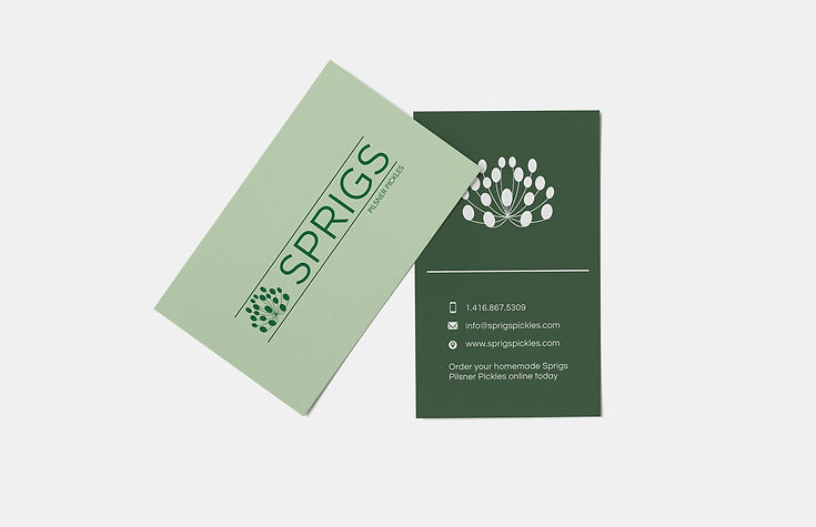 Sprigs Business Card Design
