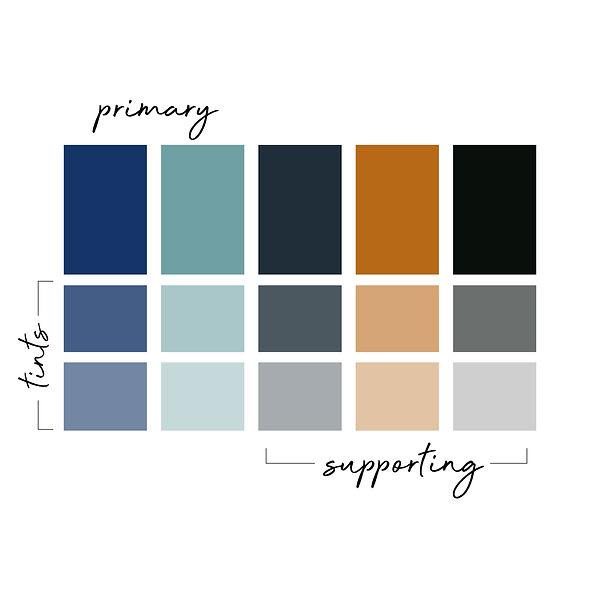 Caroline Mathes Brand Colour Palette
