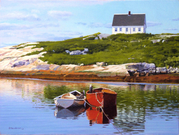 Reflections Peggy's Cove