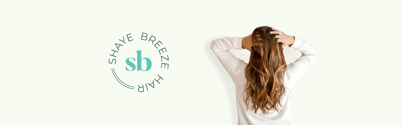 shaye breeze hair brand identity banner