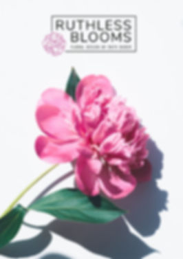 ruthless blooms brand identity design