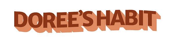 Dorees Habit shadowed wordmark design