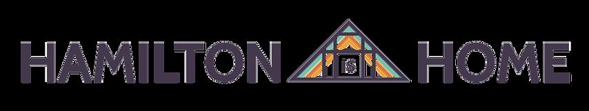 Hamilton is Home wide logo design