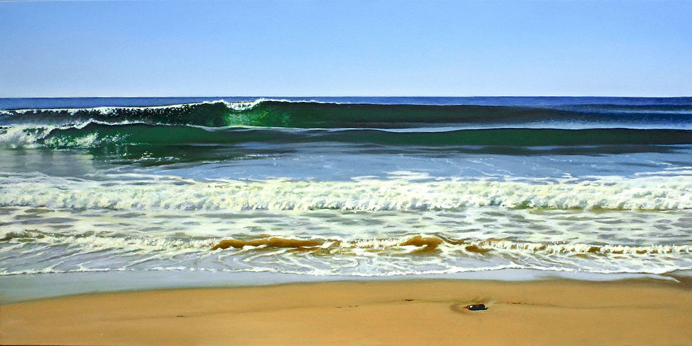 Cresting Waves, 20x40 -oil-on-canvas
