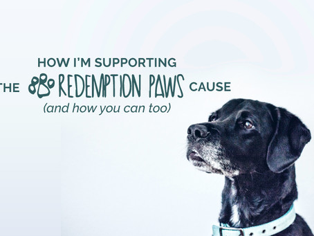HOW I'M SUPPORTING THE REDEMPTION PAWS CAUSE