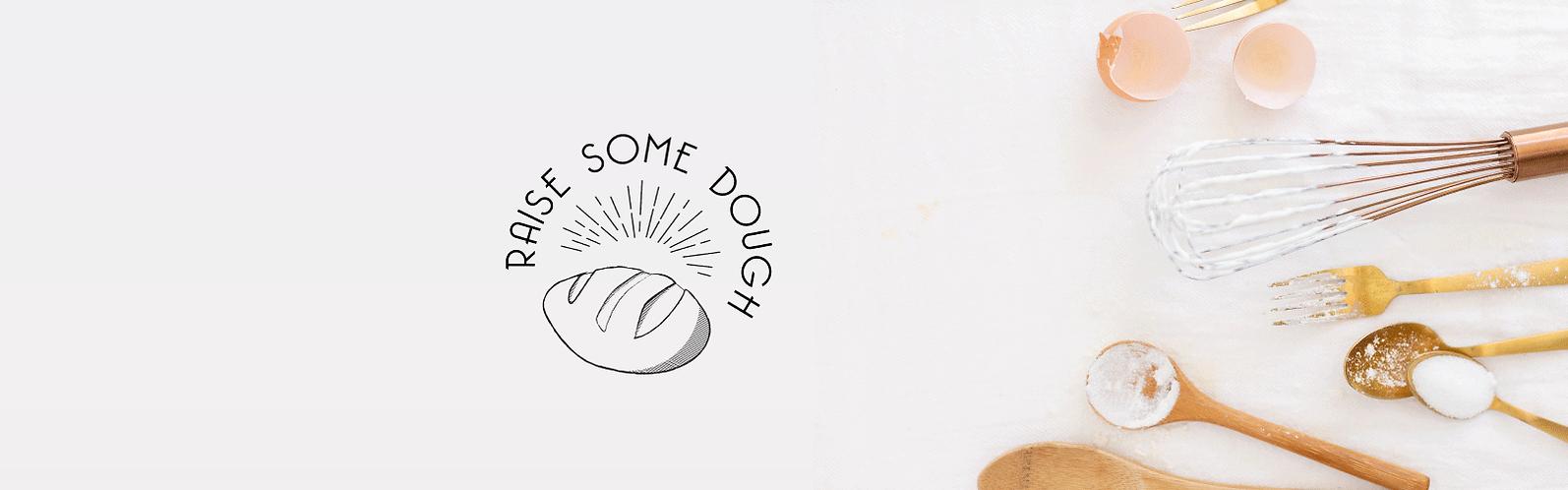 raise some dough logo design