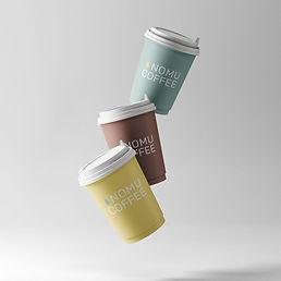 nomu coffee cups mockup