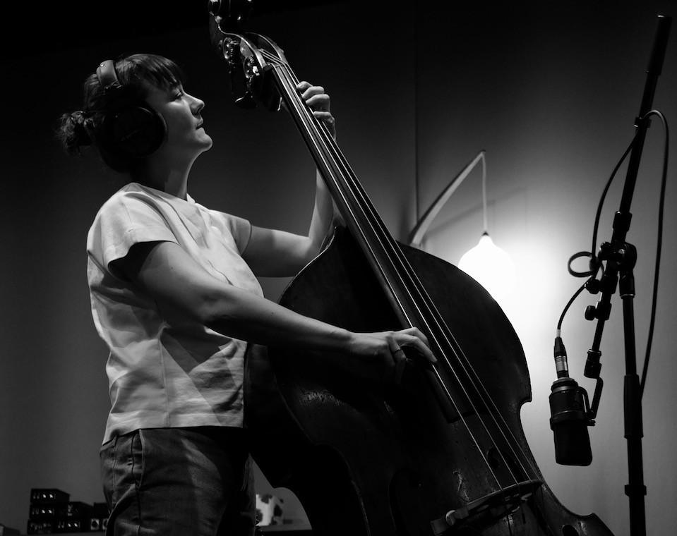 Tamara Murphy playing bass