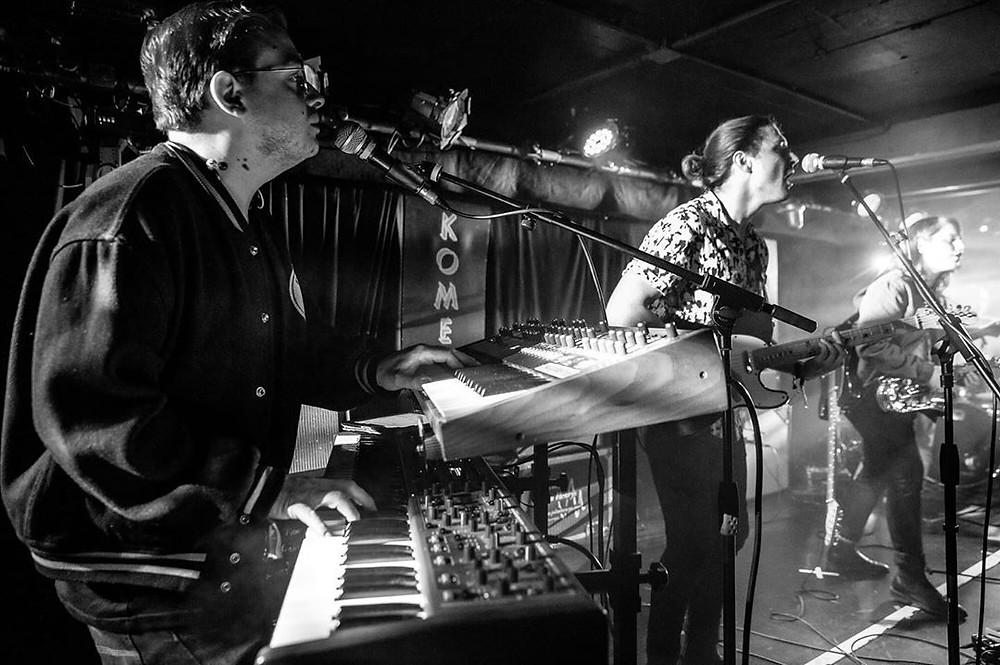 Lewis Moody on tour with Alex Lahey. Photo: Shane Benson
