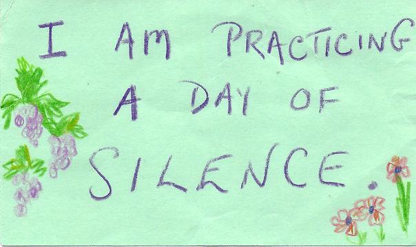 Informal Silence Together business card