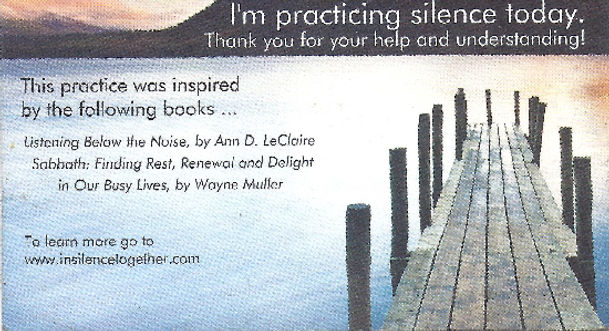 Day of Silence Business Card