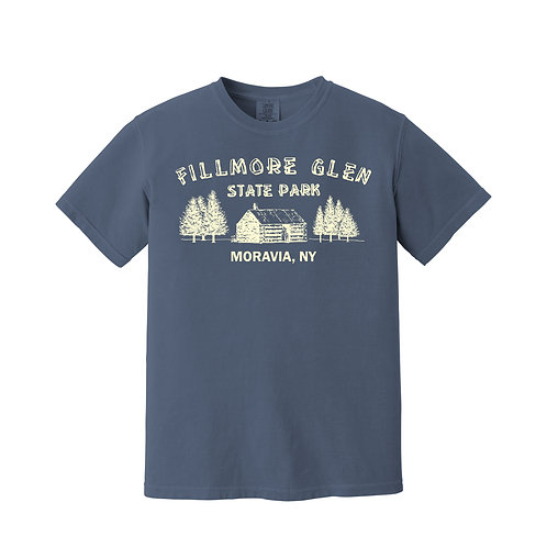 Fillmore Glen Cabin Adult T-shirt