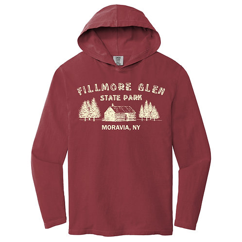 Fillmore Glen Cabin Hooded Adult Long Sleeve Tee