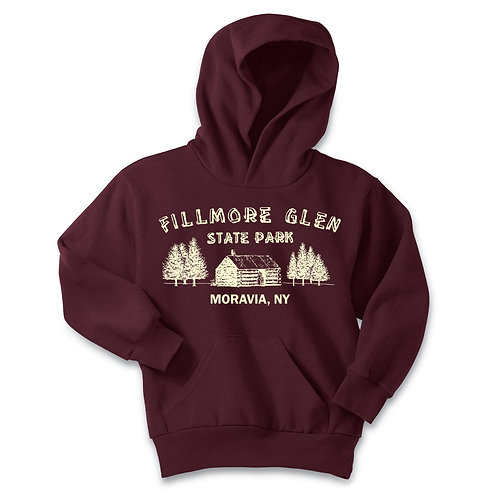 Fillmore Glen Cabin Youth Pullover Hoodie