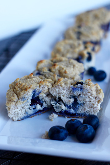 90 Calorie Clean Eating Blueberry Muffins