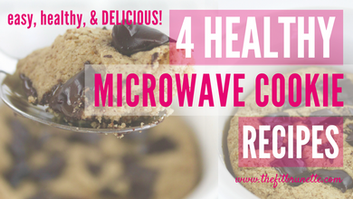 4 Healthy Single Serving Cookie Recipes You Can Make in the Microwave: WITH VIDEO!