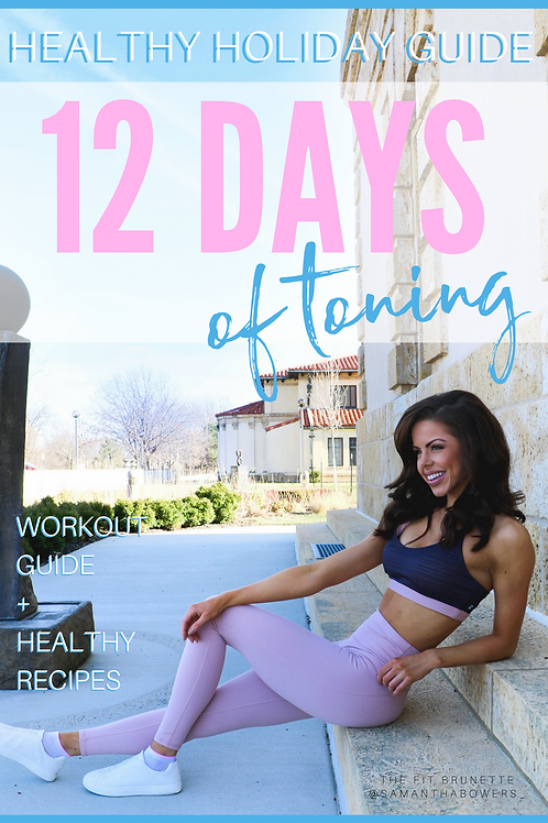 12 Days of Toning Holiday Fitness Guide