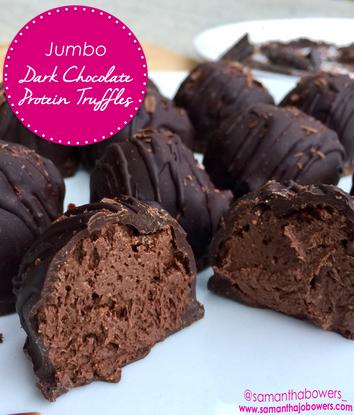 Jumbo Dark Chocolate Protein Truffles