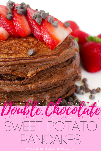 Double Chocolate Sweet Potato Pancakes