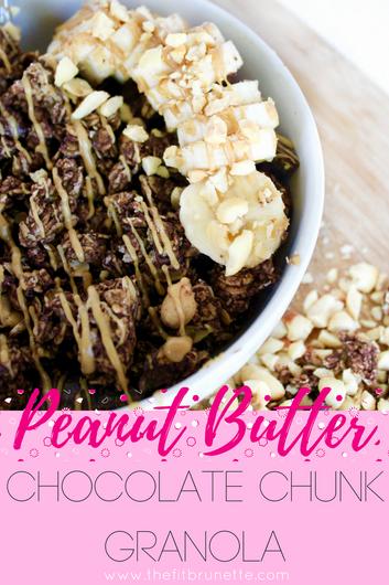 Homemade Peanut Butter Chocolate Chunk Granola