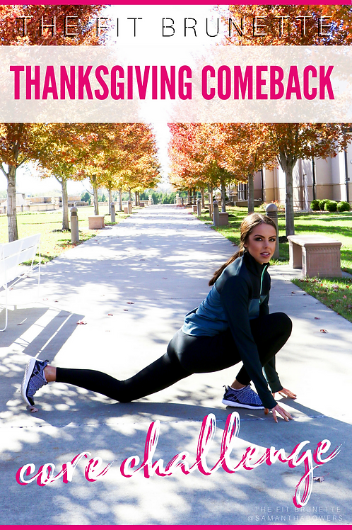5 Day Thanksgiving Core Comeback Challenge