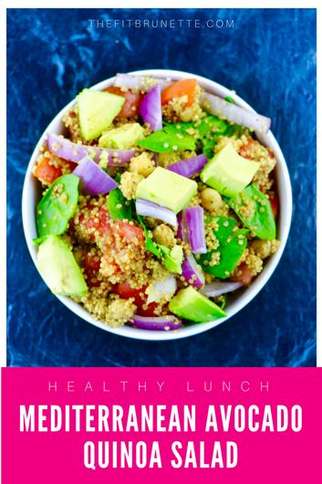 Mediterranean Avocado Quinoa Salad | Easy, Healthy Lunch Recipe