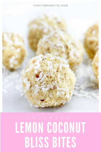 Collagen Lemon Coconut Bliss Bites | Easy Healthy Snack Recipe