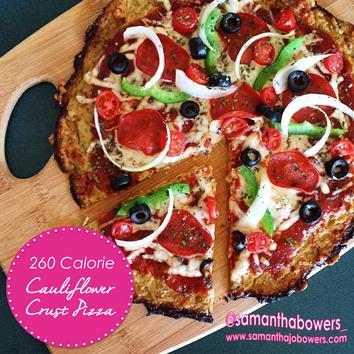 260 Calorie Cauliflower Crust Pizza