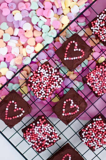 Valentine's Day Greek Yogurt Fudgey Brownies