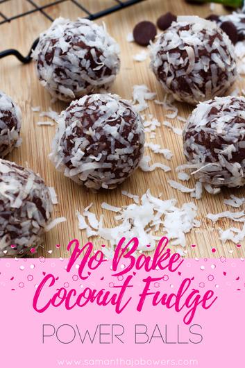No Bake Gluten Free Coconut Fudge Power Balls