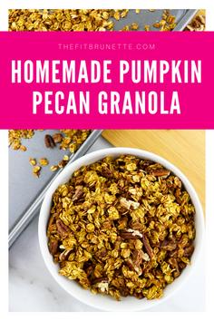 This Pumpkin Pecan Granola Recipe Screams Fall | Easy Low Sugar Homemade Granola Recipe