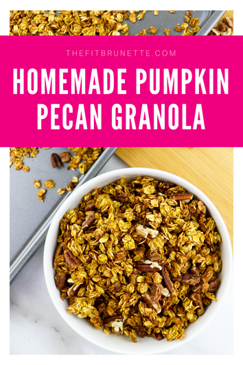 Homemade Pumpkin Pecan Granola | Low Sugar, Gluten-Free Granola Recipe