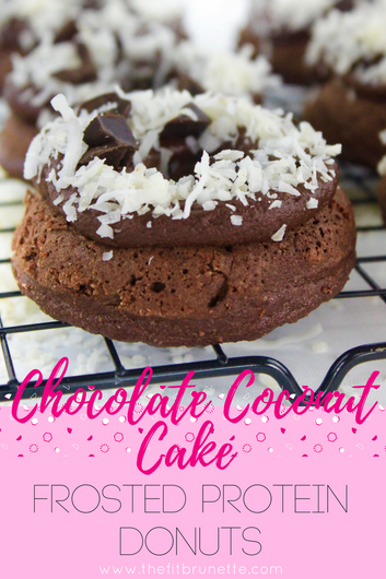 How to Make Healthy Donuts | Chocolate Coconut Cake Frosted Protein Donut Recipe