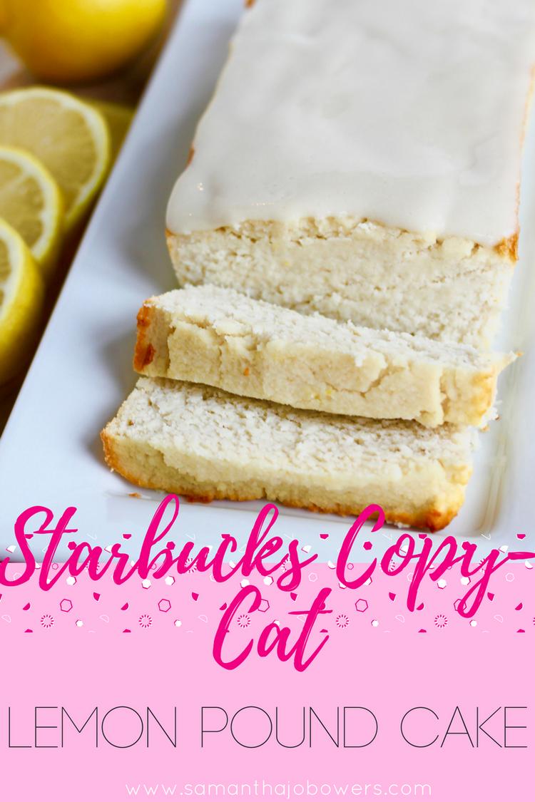 Starbucls Lemon Pound Cake Calories