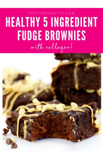Healthy 5 Ingredient Fudge Brownies | Gluten-free & Dairy-free Dessert Recipe