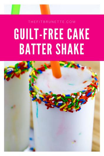 Guilt Free Cake Batter Protein Shake